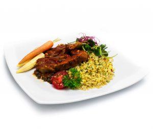Obiad w pracy z ryżem